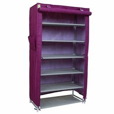Practical 6 Tiers Shoe Rack with Cover Purple