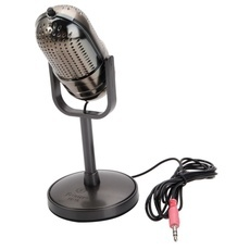 K-16 Vintage Style Electroplating Computer Microphone Electroplating Gray