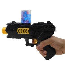 2-in-1 Funny Paintball Soft Gun Water Gun EVA Bullet + Water Bomb Pistol Bursts Children Toy Shooting Nerf Black & Yellow