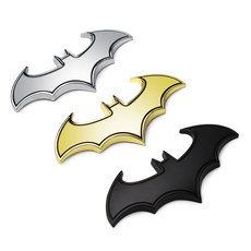 3D Cool Metal bat auto logo car styling car stickers metal batman badge emblem tail decal