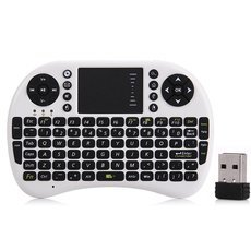 Russian English Version 2.4G Mini USB Wireless Keyboard Touchpad Air Mouse Fly Mouse Remote Control for Android TV BOX Mini PC