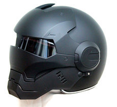 Man personality special fashion half open face motocross helmet