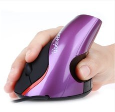 5D Ergonomic 2.4GHz 2000 DPI Wired USB Vertical Optical Mouse with 5 Keys 4 buttons in default for PC