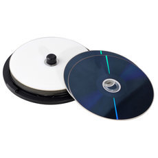 25GB 6X Wide White Inkjet Printable 10PK SpindleBlu-rayRecordable Media Disc Blank Compact Write Once Data Storage