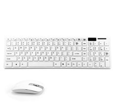 JK - 906 2.4G Ultra Thin Wireless Multiple Battery-safe USB Receiver Desktop Keyboard and Mouse Combo