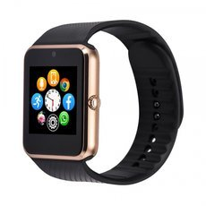 GT08 SIM Card GSM GPRS Bluetooth Smart Watch for iOS & Android Cellphone Golden