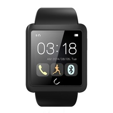 U10L U Watch Waterproof Anti-lost Bluetooth Smart Watch for iPhone & Android Phone Black