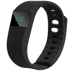 TW64 Bluetooth Smart Wristband Fitness Bracelet Watch Black