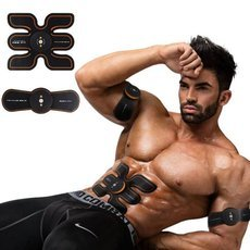 SHIJIKANG Muscle Training Gear Smart Auto Body Sculpting Exercise Tool with 6 Adjustable Modes Black & Orange