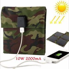 10W 2000mA Portable Foldable Solar Panel USB Battery Charger for Cellphone Tablet Camouflage